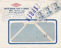 BUSTA VIAGGIATA - EXPRES - MAROCCO - CASABLANCA -  COMAFA - COMTOIR MAROCAIN D' AGENT DE FABRIQUES 1970 - Marocco (1956-...)