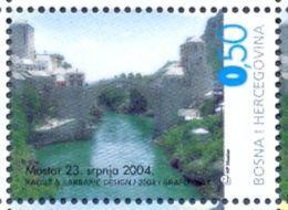 BHHB 2004-135 BRIDGE IN MOSTAR, BOSNA AND HERZEGOVINA HERZEGBOSNA (CROAT), 1 X 1v, MNH - Bosnie-Herzegovine