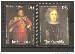 GAMBIA - JUAN CARRENO DE MIRANDA 2v. (Peter Ivanovich E Re Carlo II) Nuovo** MNH - Case Reali