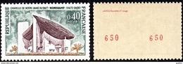 France Roulette N° 1435,b ** Chapelle Notre Dame Du Haut à Ronchamps, Numéros Rouge Au Verso - Roulettes