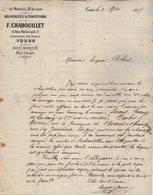 VP12.452 - Lettre - Au Portail Saint - Julien - Nouveautés & Confections F.CRABOUILLET à TOURS - France