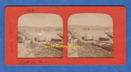 Photo Ancienne Stéréo Vers 1890 1900 - VEVEY - Canot Au Bord Du Lac - Collection Suisse Et Savoie - Photos