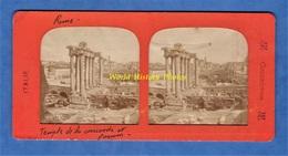 Photo Ancienne Stéréo Vers 1890 1900 - ROME / ROMA - Temple De La Concorde Et Forum - Italie Italia Archeologie - Photos