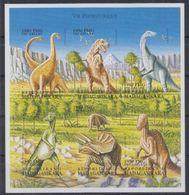 Madagascar Prehistory Prehistoire Dinosaurs Dinosaures  Imperf MNH - Vor- Und Frühgeschichte