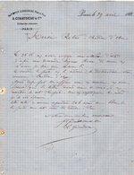 VP12.453 - Facture - Ancienne Maison GIRAUDEAU Père & Fils à PARIS - France