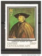 CENTROAFRICA - 1971 A. DURER Ritratto Dell'imperatore MASSIMILIANO I Nuovo** MNH - Arte