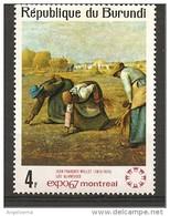 BURUNDI - 1967 JEAN-FRANCOIS MILLET Spigolatrici Nuovo** MNH - Agricoltura