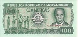 MOZAMBIQUE 100 METICAIS 1989 UNC P 130 C - Mozambique