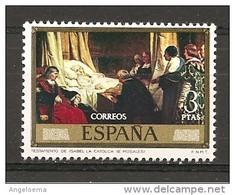 SPAGNA - E. ROSALES Testamento Di ISABELLA La CATTOLICA Nuovo** MNH - Cristoforo Colombo