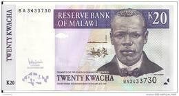 MALAWI 20 KWACHA  2007 UNC P 52 D - Malawi