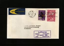 Peru 1966  Flight Lufthansa Lima - Frankfurt - Peru