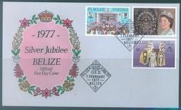 BELIZE - FDC - 1977 - SILVER JUBILEE ELIZABETH II  - Lot 17236 - Belize (1973-...)