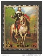 PARAGUAY - 1970 A. VAN DYCK Ritratto Di CARLO I, Cavallo Nuovo** MNH - Case Reali