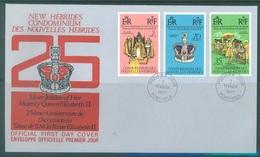 NEW HEBRIDES - FDC - 1977 - SILVER JUBILEE ELIZABETH II  - Lot 17237 - FDC