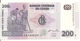 CONGO 200 FRANCS 2007 UNC P 99 - Non Classés
