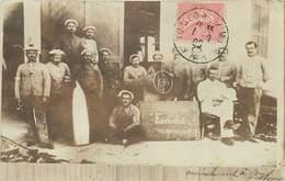 "MILITAIRES - Toulon Sous Marin ""Farfadet"", Carte Photo En 1905.. - Barracks"