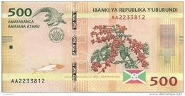 BURUNDI 500 FRANCS 2015 UNC P 50 - Burundi