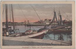 Stralsund - Hafen Mit Trajekt-Dampfer - Stralsund