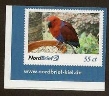 Privatpost - NordBrief -  Edelpapagei (Eclectus Roratus) - BRD