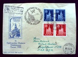 "Polen,Poland 1955 "" 6TH NATIONAL PHILATELIC EXPO IN POZNAN ""R-Brief ,Registered Cover.(962') - 1944-.... République"