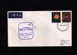 Australia 1966 Flight Sydney - New Delhi - Primi Voli