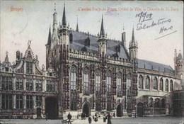 BRUGES-BRUGGE - L'Ancien Greffe Du Franc, L'Hôtel De Ville, La Chapelle Du Saint-Sang - Oblitération De 1908 - Brugge