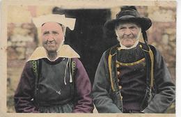 29, Finistère, SAINT-THOIS-GOUEZEC, Costumes, Le Bon Vieux A 84 Ans, Sa Compagne 78 Ans , Scan Recto-verso - Gouézec