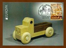 Belarus  2015  Mi.Nr. 1060 , EUROPA CEPT Historisches Spielzeug - Maximum Card - Premier Jour 13.04.2015 - Europa-CEPT