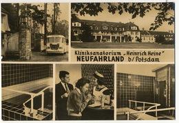 "Neufahrland B/ Potsdam Kliniksanatorium "" Heinrich Heine "" Bus  Sauna Size 10/15 Cms - Neu Fahrland"