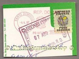 "Dominikan. Republik - ""Express Private POST Service"" Auf Kartenausschnitt - Dominikanische Rep."