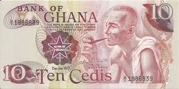 GHANA 10 CEDIS 1978 AUNC P 16 F - Ghana