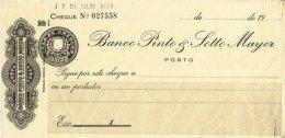 PORTUGAL, Cheques, F/VF - Fiscaux