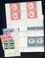 Monaco - N° Yvert 281/286 Série En Blocs De 4 Coins Datés Neufs ** Luxe , Gomme D'origine - Cote Des Timbres 68€ - Monaco