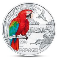 AUSTRIA 3 EURO COLORFUL CREATURES PARROT BIRD FAUNA 2018 UNC - Autriche