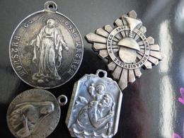Lot 4 Medailles - Frankrijk