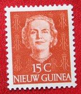 15 Ct Koningin Juliana En Face NVPH 10 1950 MH / Ongebruikt NIEUW GUINEA NIEDERLANDISCH NEUGUINEA NETHERLANDS NEW GUINEA - Netherlands New Guinea