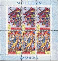 Moldova, 2006, Mi. 549-50 (MH 7), Y&T C474, Sc. 524-25, SG 541-42, Europa, Integration, MNH - Moldova