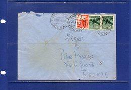 ##(DAN186/1)1949- Busta  Da Sarteano(Siena) Per Firenze Affrancata In Tariffa L.20 Con Valori Democratica - 1946-60: Storia Postale