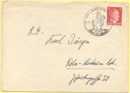 Deutsches Reich - 1942 - 12 Pf + Special Cancel Großdeutschland Gedenkt Karls Des Großen - Viaggiata Da Aachen Per Köln - Horses