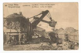 Congo Belge Kambove Les Mines Chargement Des Wagons Carte Postale Ancienne Animée - Belgian Congo - Other