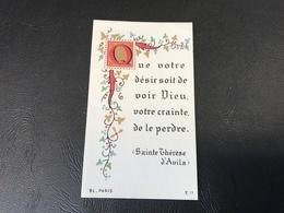 11 - Que Votre Desir Soit De Voir Dieu, Votre Crainte De Le Perdre - Notre Dame De Bon Secours 1948 - Devotieprenten