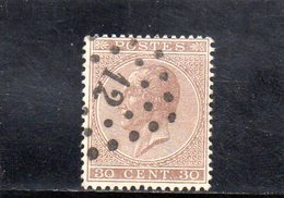 BELGIQUE 1865-6 O - 1865-1866 Linksprofil