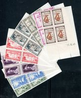 Monaco - N° Yvert 324/31 En Bloc De 4 Coins Datés Neufs ** Luxe , Gomme D'origine Cote Des Timbres 68€ - Monaco