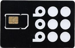 Bulgaria - Bob - Black White Circles GSM SIM 2 Mini, Mint - Bulgaria