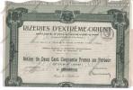 RIZERIES D'EXTREME ORIENT Indochine Cochinchine Saïgon 1918 Action Au Porteur De 250 Francs - Asie