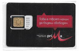 Bulgaria - M-Tel - Prima Black Series - GSM SIM 2 Mini Type#1, NSB - Bulgaria