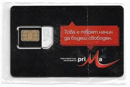 Bulgaria - M-Tel - Prima Black Series - GSM SIM 2 Mini Type#2, NSB - Bulgaria