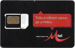 Bulgaria - M-Tel - Prima Black Series - GSM SIM 2 Mini Type#3, Mint - Bulgaria