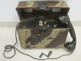 Téléphone Allemand Feldfernsprecher F33 Wehrmacht Ww2 Daté 1939 - 1939-45