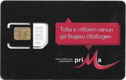 Bulgaria - M-Tel - Prima Black Series - GSM SIM 2 Mini Type#4, Mint - Bulgaria